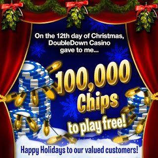 Facebook Freebies: 12th day of Christmas DoubleDown Free Chips