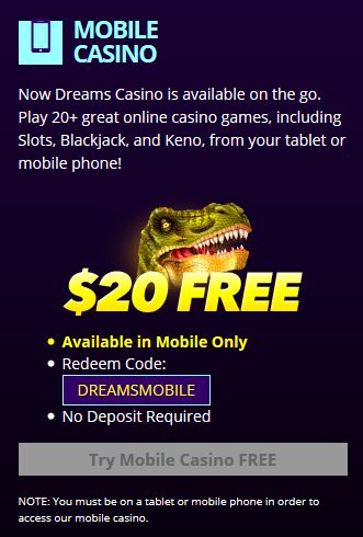 Dreams casino redeem codes