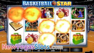 Play the Basketball Star slot free at Vegas Joker Casino