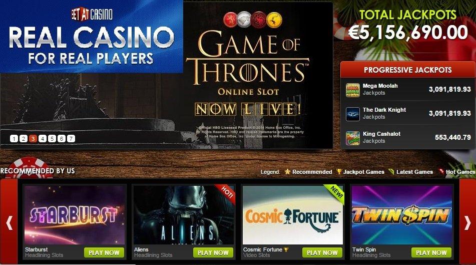 Super Bonus at BetAt Casino Plus 10 Free Spins No Deposit