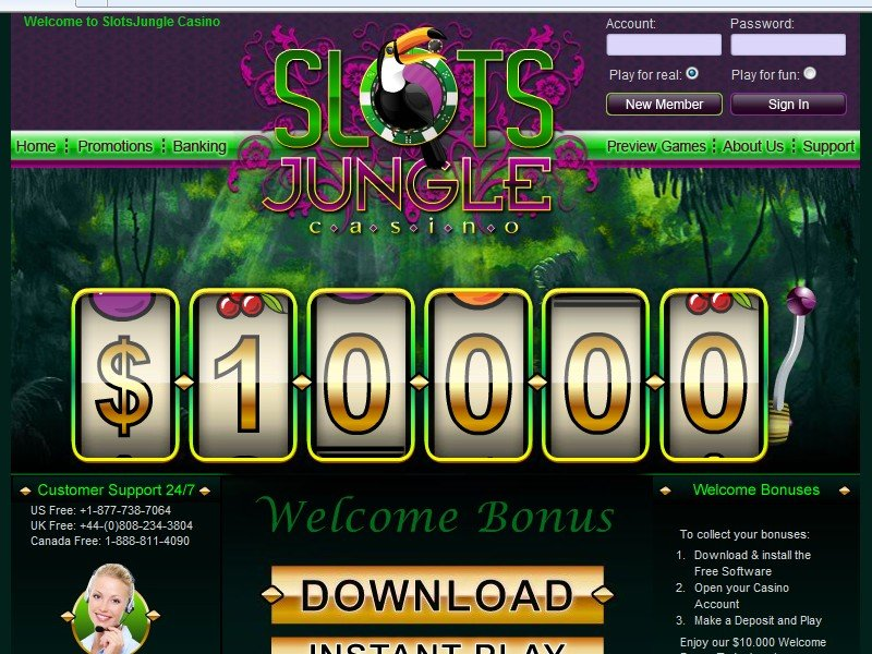 Slots Jungle No Deposit Casino Bonus, Codes and Reviews