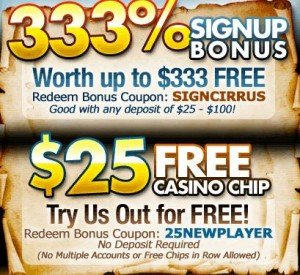 Today s Top Cirrus Casino Coupon Codes June 2019