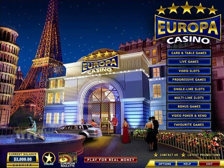 Europa Casino - 2400€ gratis + 15€ zum Testspielen