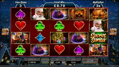 Secret Santa Slot Game | New Games | Pinterest