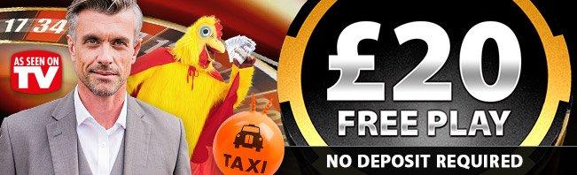 £20 FREE PLAY NO DEPOSIT BONUS