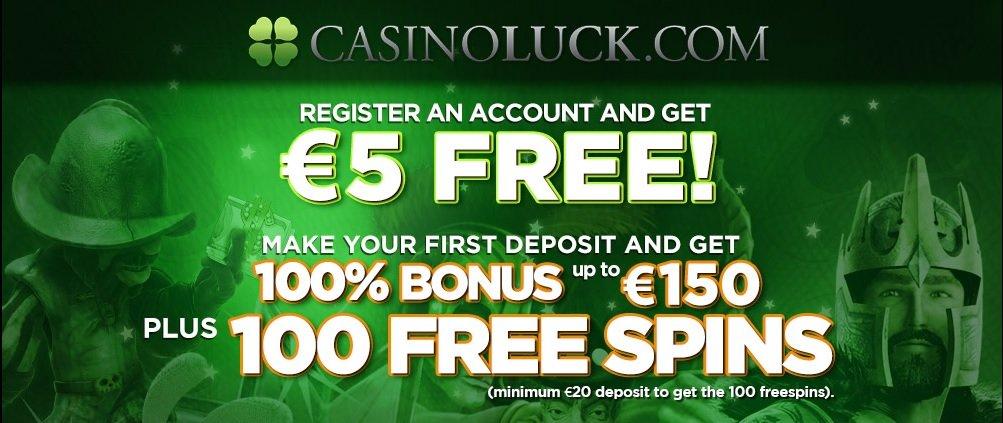 Euros free, no deposit bonus at CasinoLuck