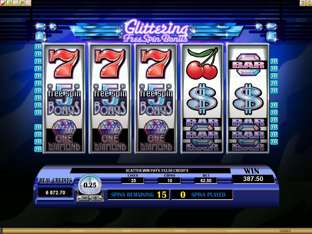 Microgaming Retro Reels - Diamond Glitz Video Slot Review