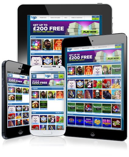 The BGO Mobile Casino offers slots and casino games wherever you are