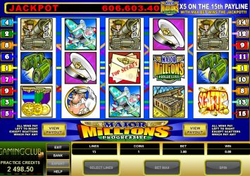 Major Millions 5 Reel Jackpot Slot