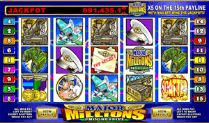 Major Millions is a five reel , fifteen payline, and fifteen coin slot
