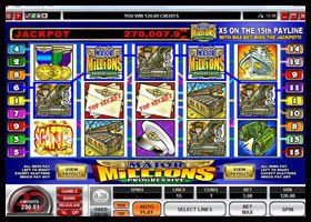 Major Millions Progressive Jackpot Online Slot