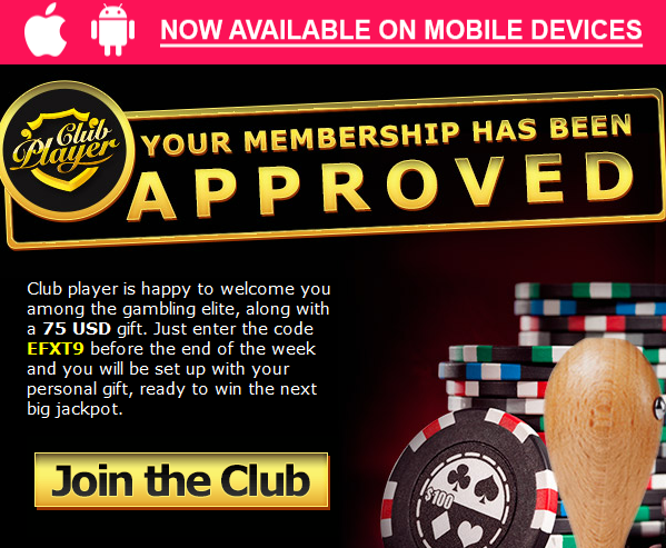 Club Player Casino Deposit Codes