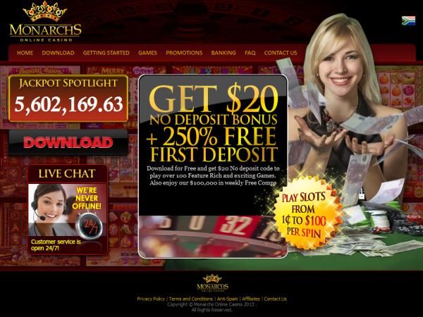 Monarchs Casino | No Deposit Bonus Blog