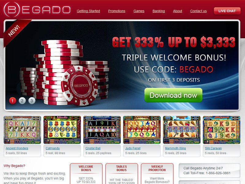 Begado No Deposit Casino Bonus, Codes and Reviews