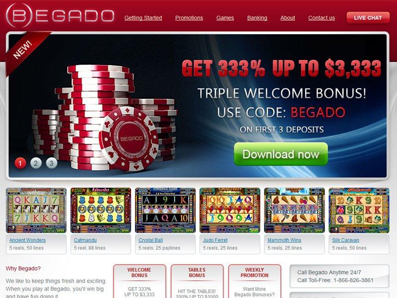 Begado No Deposit Casino Bonus, Codes and Reviews