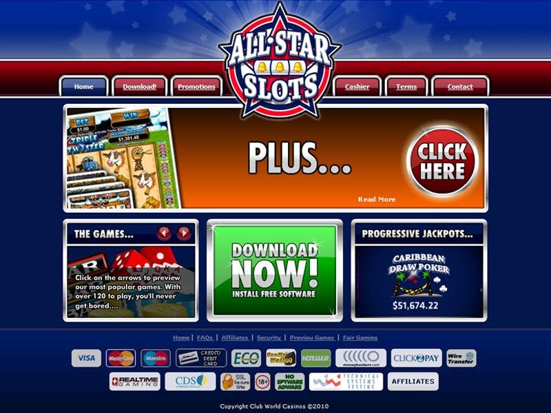 All Star Slots No Deposit Casino Bonus, Codes and Reviews