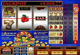 Cash Splash 3 Reel Slot Progressive Jackpot