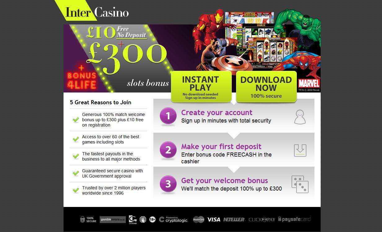 No deposit bonus casino codes
