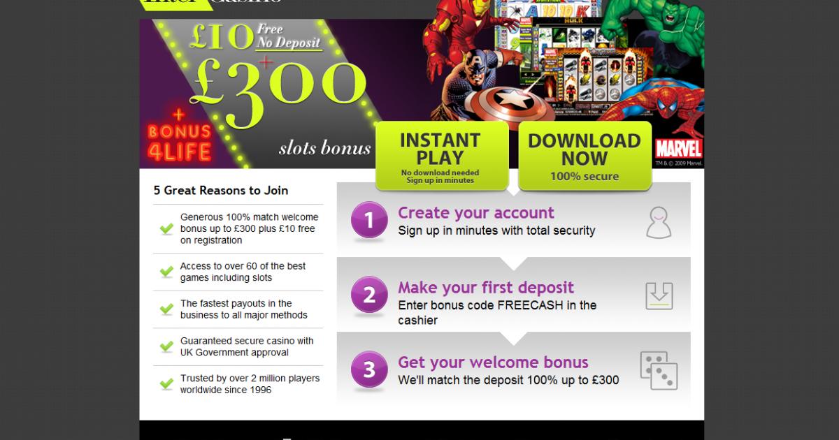 Online Casino No Deposit Bonus Codes