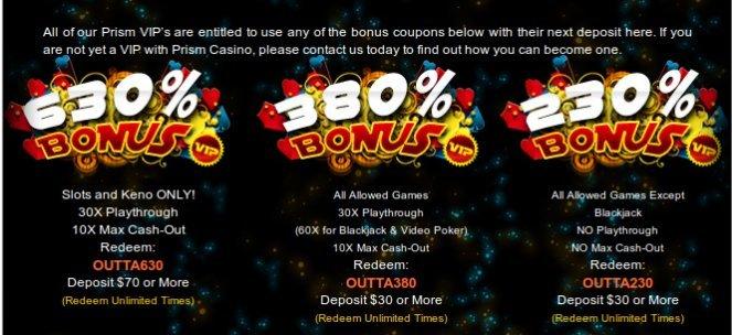 PRISM CASINO |Rtg No Deposit Bonus Codes July2017 |No deposit663