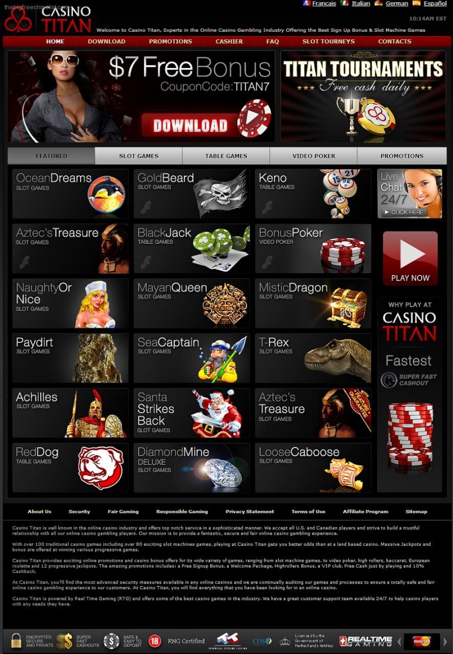 The Big Free Chip List No Deposit Bonus Win Real Money With Free