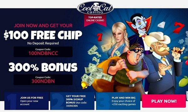 $100 free chip at cool cat casino
